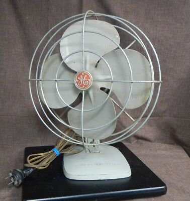 "Vintage 10"" GE General Electric Desk Fan -  Working Condition -"