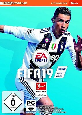 FIFA 19 - PC Spiel Key EA Origin Fussball 2019 Digital Download Code [EU] [DE]