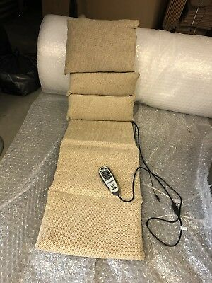 Full length massage seat cushion with heat, massage and vibrate relaxor ultra