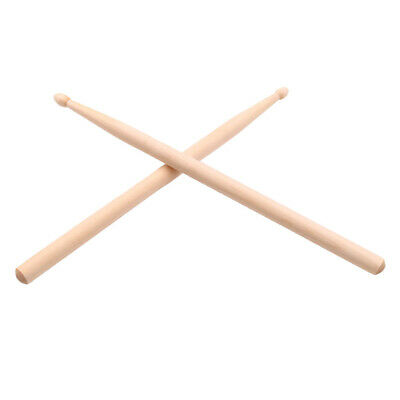 2x Maple Wood Drumsticks Music Band Exercise Drum Sticks for Boys Girls Kids