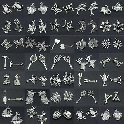 Lot Tibetan Silver Retro Gothic Style Charms Pendants DIY Finding Craft Jewelry