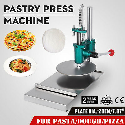 7.8inch Manual Pastry Press Machine Bread Molder Pizza Crust Chapati Sheet 20cm
