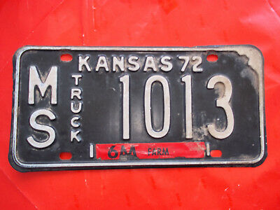 Usa Kansas 72 Truck Numberplate Lkw Nummernschild