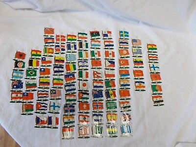 Vintage Tin Litho Flags - Different Countries - Nabisco Shredded Wheat Premium