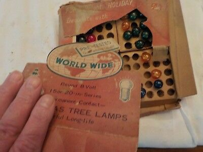 Vintage Worldwide Christmas Tree Lamps Round 8 Volt