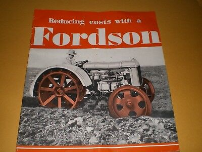 1920s or 1930s Fordson Tractor Implements Farm Brochure Booklet