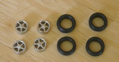 "1/43rd scale 5 spoke alloy + bolt wheels by K&R Replicas for cars with 16"" wheel"