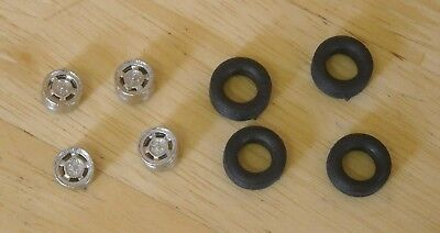 "1/43rd scale 15""  ventilated Mag alloy wheels  and tyres by K&R Replicas"