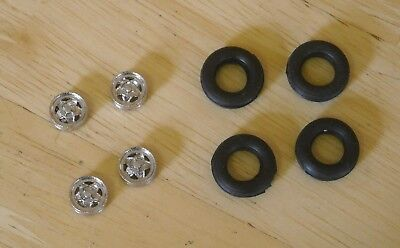 "1/43rd scale 15""  5 spoke alloy wheels  and tyres by K&R Replicas"