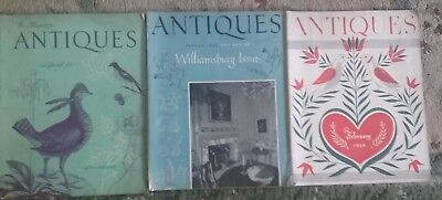 LOT OF 3 Vintage ANTIQUES Magazines, February 1954, March 1953 & April 1952 used