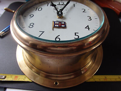 Brass ship's Bulkhead clock case with quartz movement