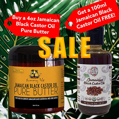 200ml- Get a FREE 100ml refill with 100ml bottle-JAMAICAN BLACK CASTOR OIL -