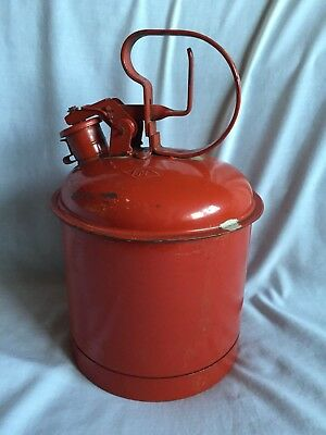 Vintage Eagle Red  Metal Gas Can