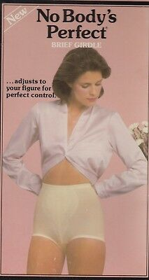 "Vintage Playtex ""No Body's Perfect"" panty girdle / brief sz M White/Beige NEW"