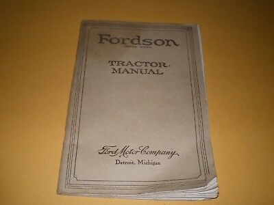 1925 Fordson Tractor Manual Farm Booklet Ford Motor Company Detroit Michigan