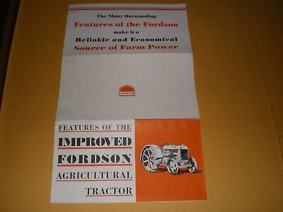 1920s or 1930s Fordson Tractor Farm Brochure