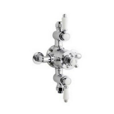 Premier Ity309 Traditional Dual Exposed Thermostatic Shower Valve.Premier 130mm Traditional Dual Exposed Thermostatic Shower