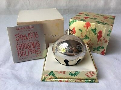 Wallace Silversmiths 1976 Annual Edition Silver Plated Christmas Sleigh Bell