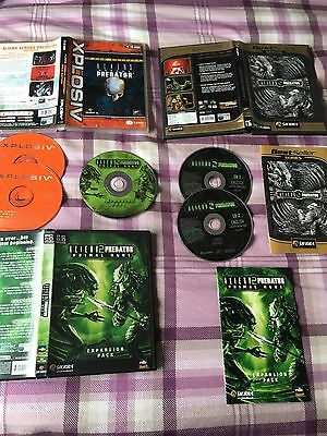 Aliens Vs Predator Triple Pack (AVP Gold, 2 , Primal Hunt) for PC (with manuals)