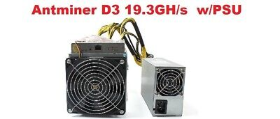Bitmain Antminer D3 19.3 GH/s x11 ASIC Dash Miner w/ PSU IN HAND - USED