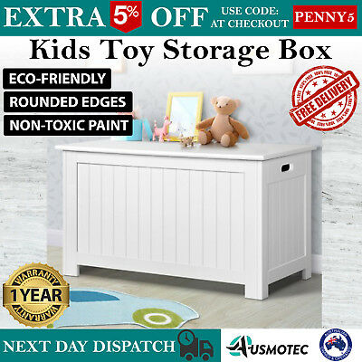New KIDS TOY BOX WOODEN STORAGE BOXES Containers Chest Cabinet  Blanket
