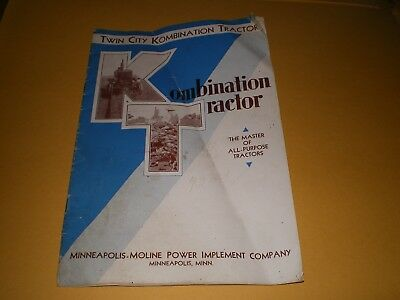 1929-1938 Twin City Kombination Tractor Minneapolis Moline Advertising Brochure