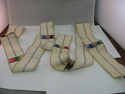 Vintage Hand Made Cotton Belt from Guatemala About 6' Six Feet Long