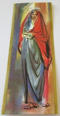 Used Vtg Christmas Card Madonna Mother Mary with Baby Jesus