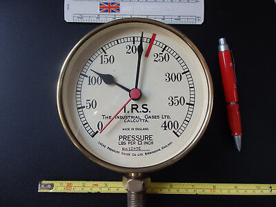 Brass Pressure Gauge clock with quartz movement