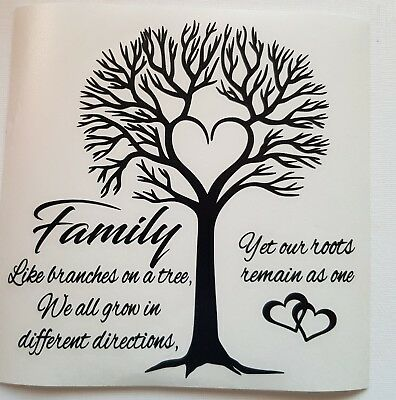 Family Like Branches On A Tree Ikea Frame Glass Block Decal Vinyl
