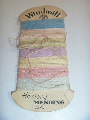 Vintage Windmill Colour Sewing Thread For Hosiery Mending