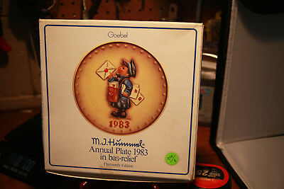 M.J. Hummel Annual 1983 Collector Plate Limited Edition Hand Painted - BOX ONLY