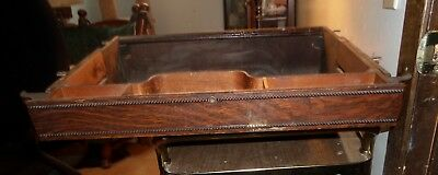 Antique Beaded Oak Singer Treadle Center Middle Pull Out Drawer & Belly Pan