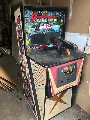 Rare! 1974 Gang Busters Vintage Antique Arcade Shooter