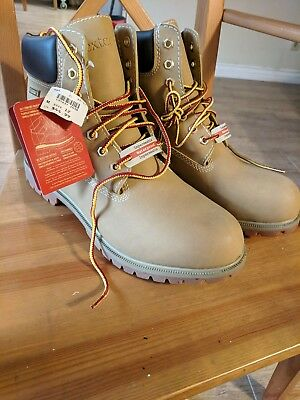 NWOT Mens Dexter Wheat Colored Waterproof Hiking Work Boots, Size 12