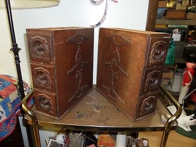 Antique Oak Singer Treadle Sewing Machine Cabinet 6 Drawers With Frame
