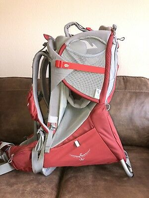OSPREY Poco Plus Backpack Hiking Child Carrier Red