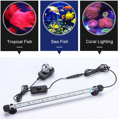 LED Aquarium Light White Blue Underwater Spot Light Submersible Pond Lighting UK