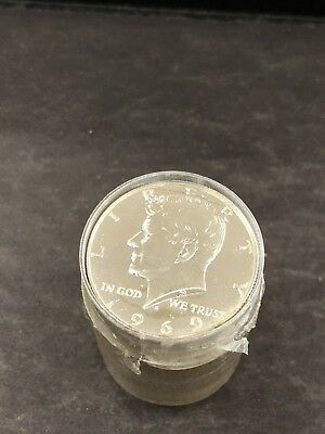 1969 S 50c Proof 40% Silver Kennedy Half Dollar Roll 20 Coins