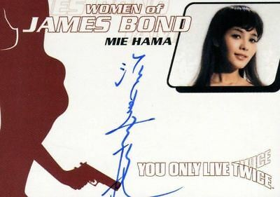 James Bond Women of James Bond in Motion Mie Hama Autograph Card WA13