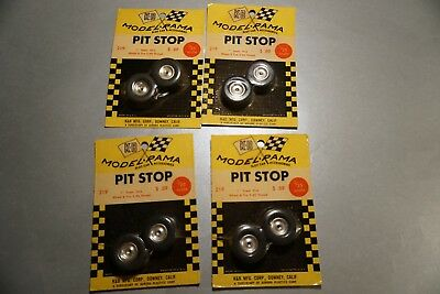 Slotcarteile 4x K&B Model Rama Pit Stop Wheel & Tire  1:25 #219