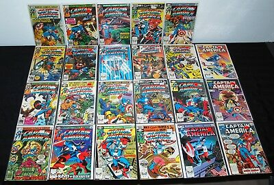 1979-83 Marvel Captain America  #236-289 High Grade Lot Of 23 Vf To Nm+ L13