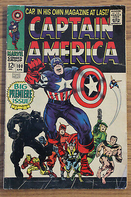 Captain America #100 FN 1967 Marvel 1st Solo Issue