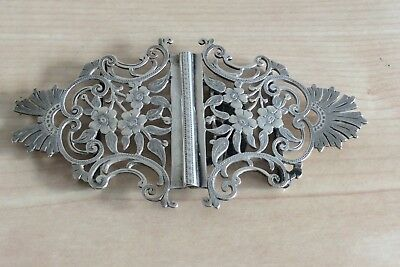 Vintage Siver Nurses Buckle, London Maker, 1903