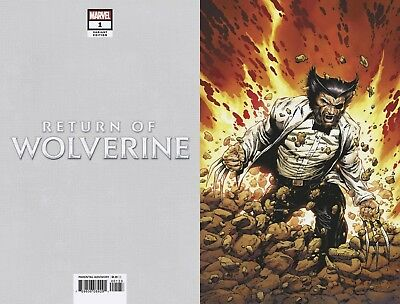 RETURN OF WOLVERINE #1 1:500 VARIANT MCNIVEN PATCH COSTUME VIRGIN Cover CB138