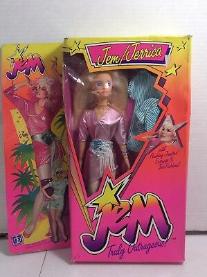 Vintage 1986 Hasbro JEM JERRICA OF THE HOLOGRAMS  DOLL TRULY OUTRAGEOUS New