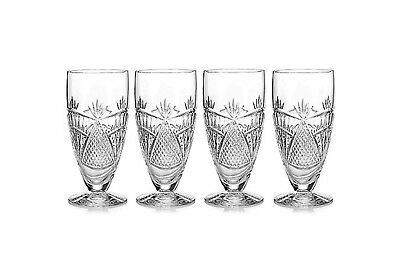 BRAND NEW, IN BOX Waterford Crystal Seahorse Nouveau Iced Beverage Set of 4