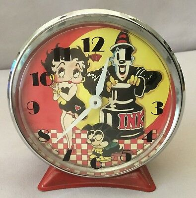 Betty Boop and Pudgy Animated Alarm Clock