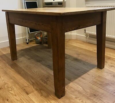 Solid Wooden Antique Victorian Kitchen Dining Table