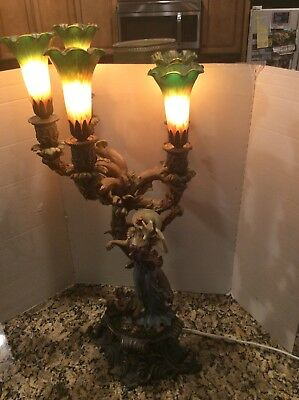 RARE  Antique/Vintage  ART NOUVEAU French Victorian Figural 5 Arm LAMP